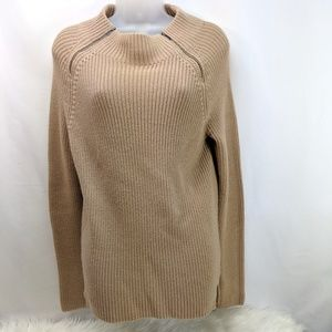 Long Pull Over Camel Color Sweater